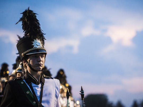 Yorktown competes in the 15th annual Spirit of Sound marching band contest in July 2015.
