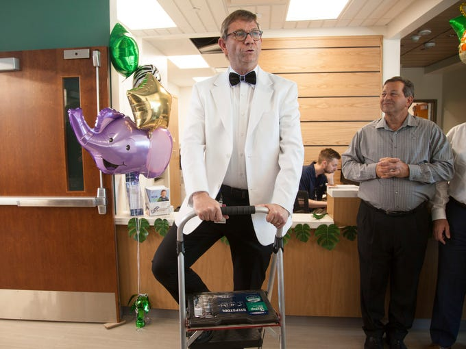 Dr. Marty Nygaard sang two songs dedicated to the new
