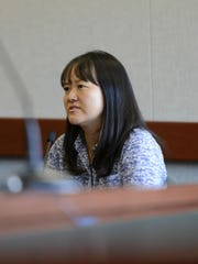 Attorney Sandra Lee, the former lawyer for James Scarola, testifies in Vermont Superior Court in Burlington on Friday.