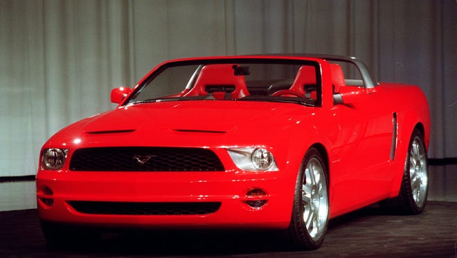 A concept version of the 2005 Mustang GT convertible is shown Dec. 12, 2002, in Dearborn, Mich.