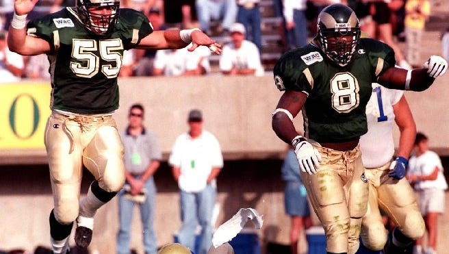 Joey Porter started his CSU career on the offensive side of the ball before becoming a dominant defensive player.