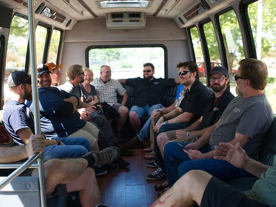 A bus full of Fort Collins brewers go brewery hopping on Monday to test out collaboration beers.