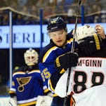 St. Louis Blues defenseman Colton Parayko (55) pulls