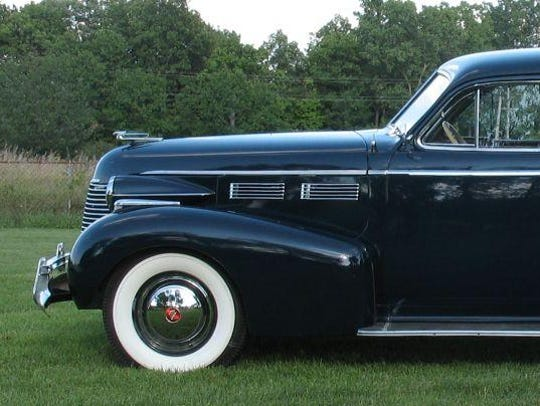 A 1940 Cadillac sedan, owned by Wally Donoghue, is