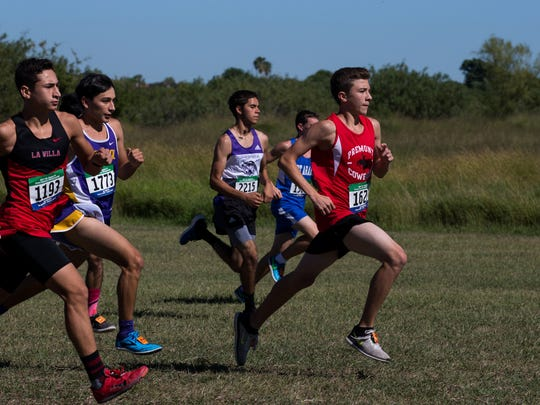 The boys 2A race during the Region IV Cross country Meet at the Dugan Track Stadium on Oct. 23, 2017.1