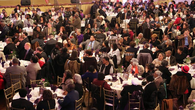 Guests are seated at the Nepperhan Community Center 30th Annual Dr. Martin Luther King Jr. Awards Dinner at the Castle Royale in Yonkers, Jan. 18, 2016. Over 500 people attended the event.