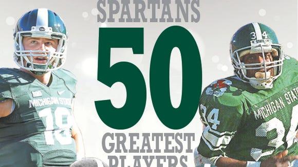 MSU top 50 football players logo