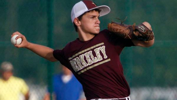 Berkeley pitcher Joe Viespoli threw a one-hit shutout on Tuesday night against Stafford in District 18 Little League action in Stafford Township.