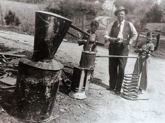 George Antrican, right, his father, Grainger County