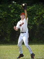 St. Wendel's Beau Maciej gets his glove on a fly ball