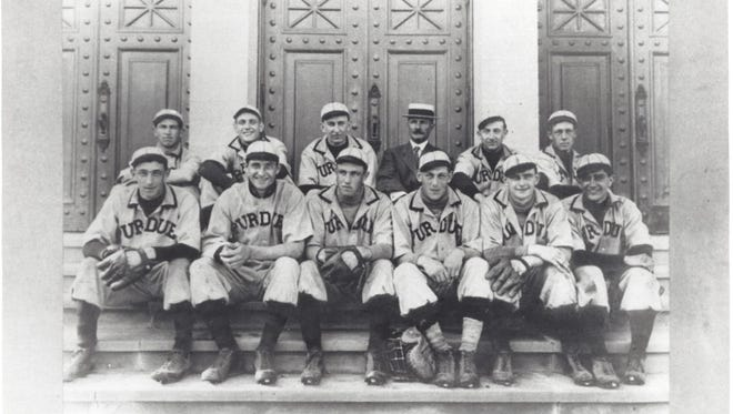 Hugh Nicol, back row fourth from left, not only coached Purdue to a pair of Big Ten Conference baseball championships but also was the Boilermakers' first athletic director.