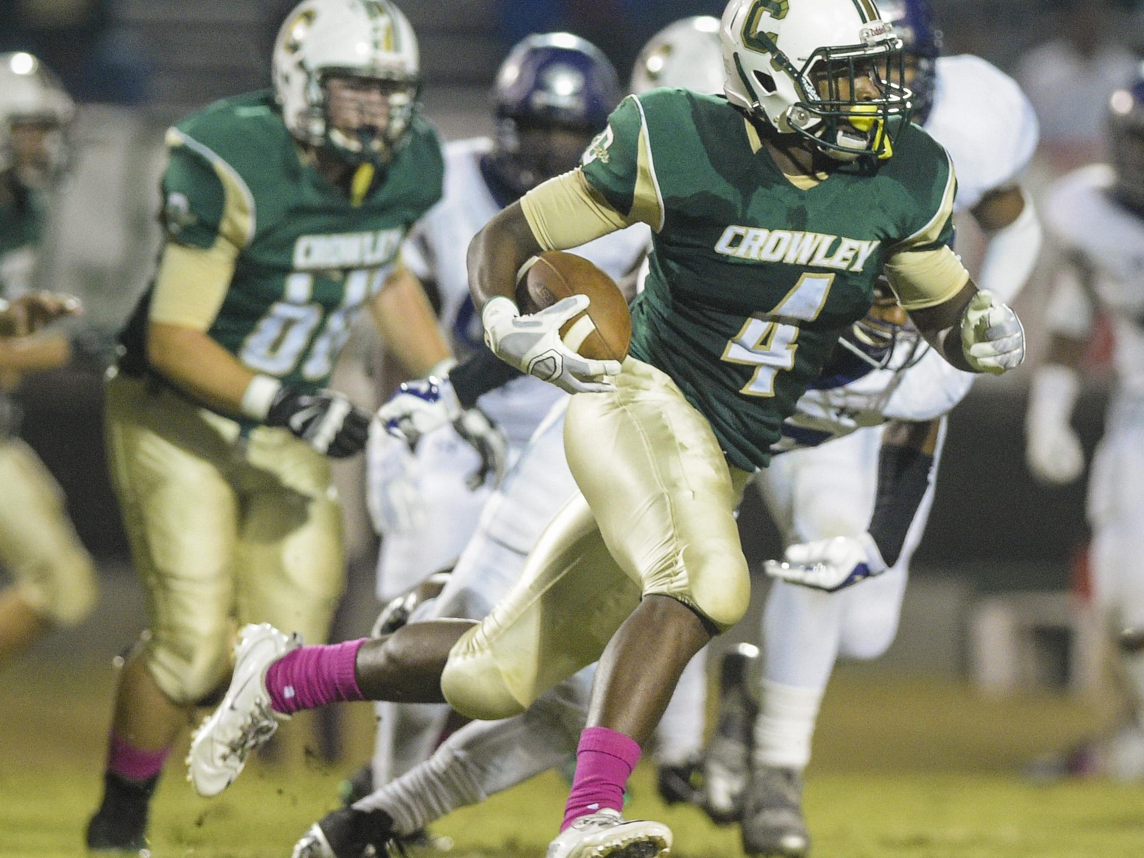 Crowley running back Ty'Von Griffin (4) is expected to lead the Gents' explosive offense this fall as one of the Acadiana area's most dynamic weapons.