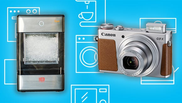 The Opal Nugget Ice Maker and the Canon PowerSho G9