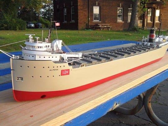 The Alpena by Sam Buchanan. He is senior captain and general manager of the J.W. Westcott mail boat near the Ambassador Bridge in Detroit. In his spare time, Buchanan crafts models of Great Lakes vessels Ð by hand. He sells them to customers like museums and private collectors.