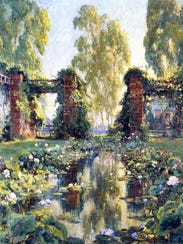 Colin Campbell Cooper, The-Lotus Pool, El Encanto,