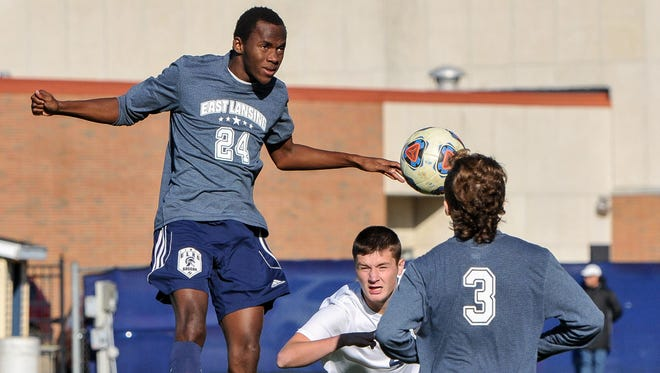 East Lansing's Ansu Lebbie ranks among the top goal scorers in the Lansing area.