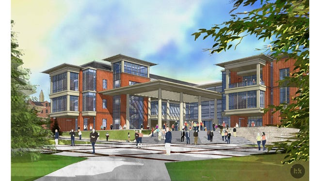 An architectss rendering shows the new Student Achievement Center scheduled to be completed in December 2015 at the University of Nevada, Reno. The building will offer students core success services in one location on campus.