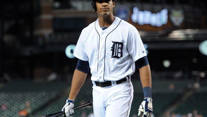 Detroit Tigers' Steven Moya.
