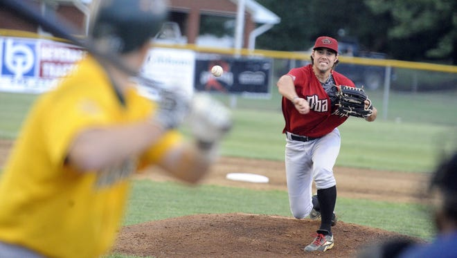 Stuarts Draft Diamondbacks' Ryan Cooper delivers a pitch in a game against the Clover Hill Bucks played in Stuarts Draft in 2015.