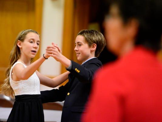 Teens learn to ballroom dance