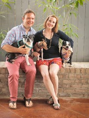 Justin Fox Burks and Amy Lawrence, the husband-and-wife duo known as The Chubby Vegetarian.
