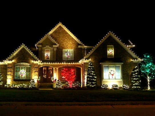 Christmas lights around Murfreesboro, as seen on Tuesday