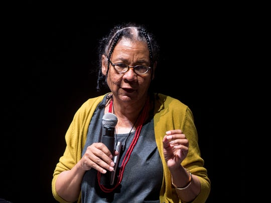 """""""We live in a society that's very much a black women-hating culture,"""" author bell hooks told Purdue University students during a lecture last month. In 1981, hooks published """"Ain't I a Woman?: Black women and feminism,"""" arguing that race, gender and class were inextricably linked, calling the American system of oppression a """"white supremacist capitalist patriarchy."""""""