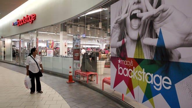 A file photo of a Macy's Backstage outlet store in Queens, New York.