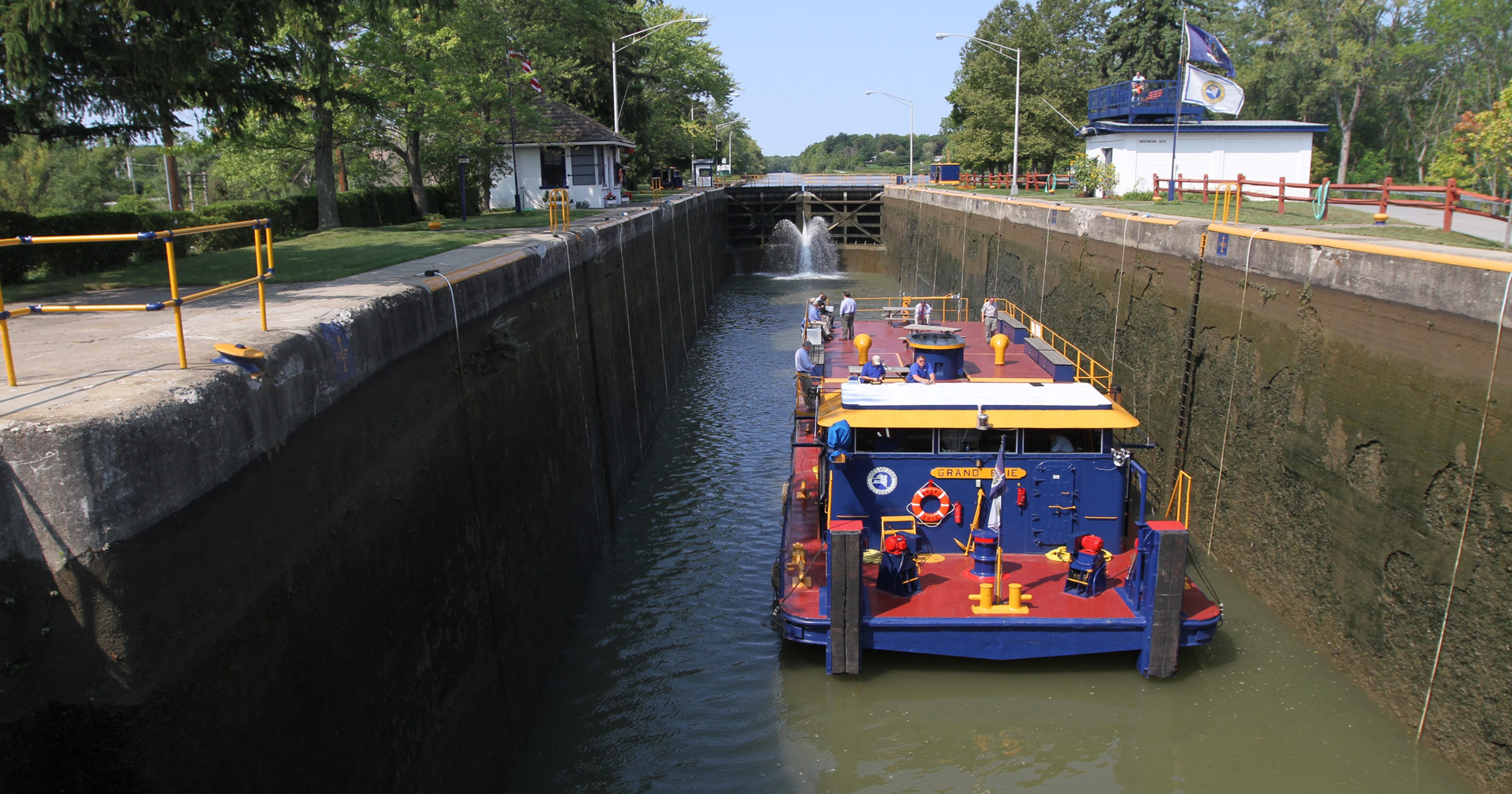 Trash by canal barge? It's been discussed