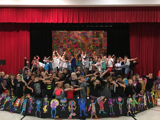 Wilson Elementary School students pose in the area