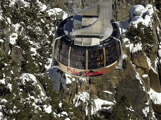 When it's raining on the desert floor in winter, there's a good chance it's snowing at the top of the Palm Springs Aerial Tramway.