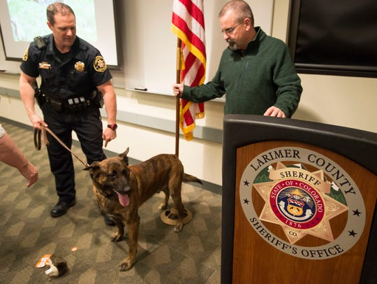 Larimer County Sheriff's Department deputy K-9 handler