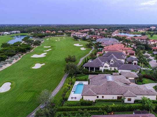 PGA golfer Mark Lye's Talis Park home in North Naples will be up for auction in August. The five-bedroom home was last on the market for $2.9 million.