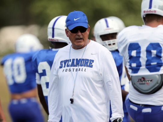 Mike Sanford, Indiana State football coach.