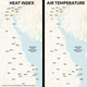 How hot is it in Delaware? Here are heat index, air temperature figures