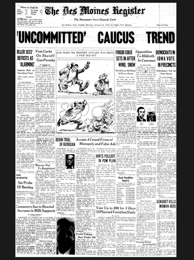 'Uncommitted Caucus Trend Tuesday, January 25, 1972