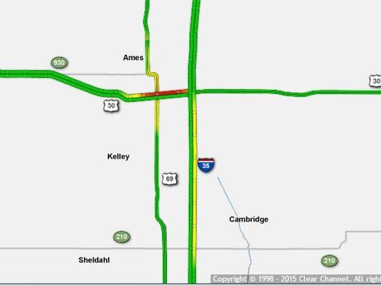 Ames traffic map Sept. 12, 2015