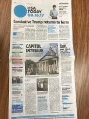 USA TODAY cover on Aug. 16/17