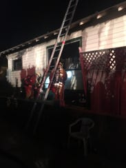 A fire was extinguished Thursday night at this house