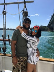 Lance and Danielle Kendricks on vacation in New Zealand.