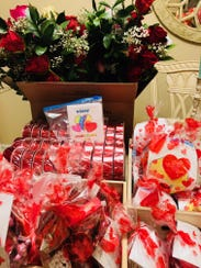 About 40 ACT women and children received candy, flowers