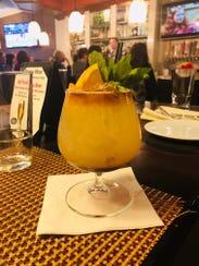 Rum punch mocktail at Ariane Kitchen & Bar in Verona