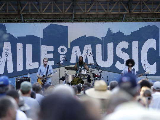 Wild Adriatic performs in Jones Park during the second day of the Mile of Music festival in 2016. The New York-based band will be back in Appleton for Mile 7.