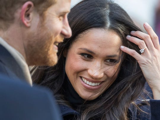 Prince Harry and Meghan Markle in Nottingham on Dec.