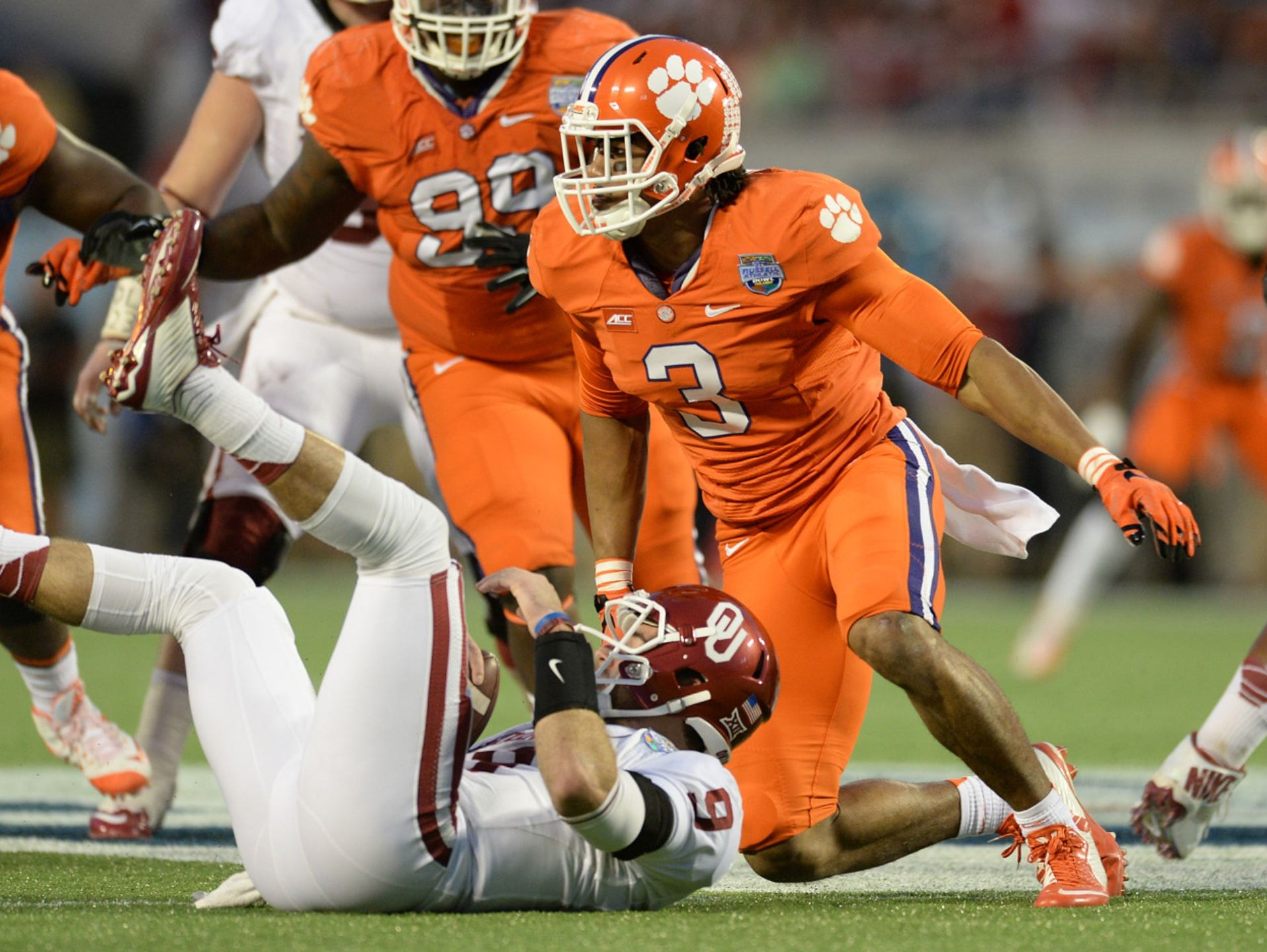 Clemson defensive end Vic Beasley is considered a first round pick in the 2015 NFL Draft.
