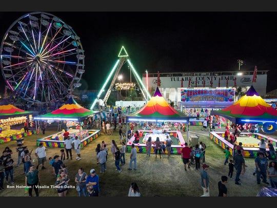 The Tulare County Fair on Thursday, September 13, 2018.