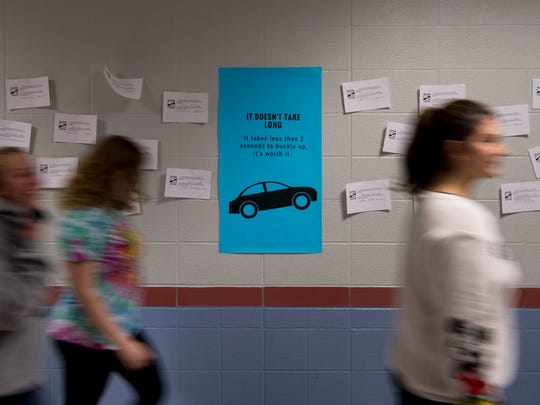 The new national campaign, iBuckleUP weBuckleUP, kicked off at Mount Vernon Junior High School Friday afternoon. The school is one of 10 chosen nationally to participate in the seat belt awareness program.