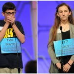 Two Michigan spellers — out of 11 who began the competition Wednesday — advanced to today's semifinals in the 2015 Scripps National Spelling Bee near the nation's capital.