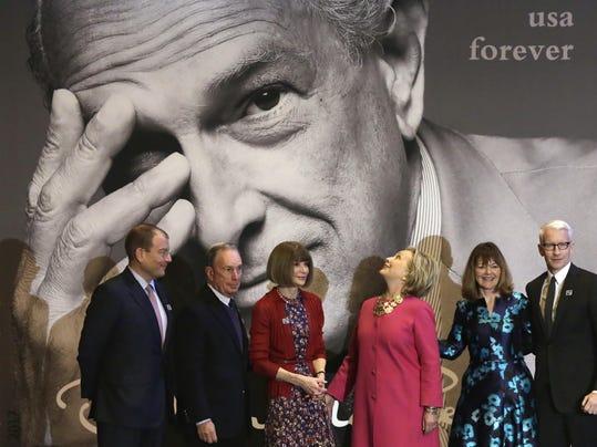 Alexander Bolen,Michael Bloomberg,Anna Wontour,Hillary Clinton,Janice Walker,Anderson Cooper