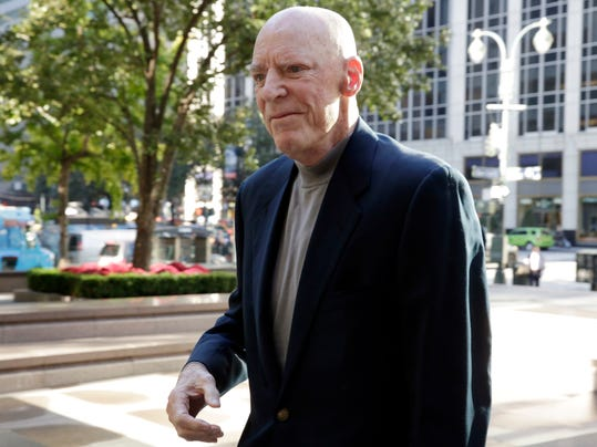 Houston Texans NFL football team owner Robert McNair arrives for meetings at the league headquarters in New York, Tuesday, Oct. 17, 2017. (AP Photo/Richard Drew)